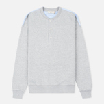 Maison Kitsune Buttoned Men's Sweatshirt Grey Melange photo- 0