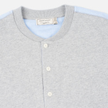 Maison Kitsune Buttoned Men's Sweatshirt Grey Melange photo- 2