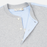 Maison Kitsune Buttoned Men's Sweatshirt Grey Melange photo- 3