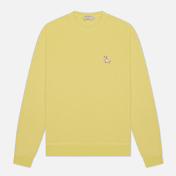 Мужская толстовка Maison Kitsune Chillax Fox Patch Regular Fit Lemon