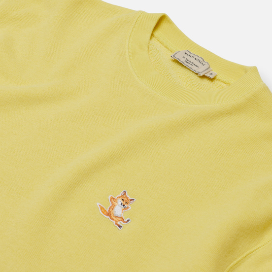 Мужская толстовка Maison Kitsune Chillax Fox Patch Regular Fit Lemon