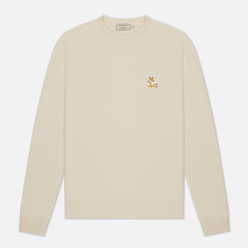 Мужская толстовка Maison Kitsune Chillax Fox Patch Regular Fit Off White