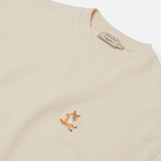 Мужская толстовка Maison Kitsune Chillax Fox Patch Regular Fit Off White