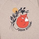 Мужская толстовка Maison Kitsune Dan Ah Kim Sleeping Fox Beige Melange фото- 2