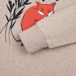 Мужская толстовка Maison Kitsune Dan Ah Kim Sleeping Fox Beige Melange фото- 3