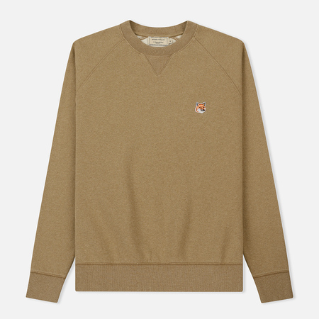Мужская толстовка Maison Kitsune Fox Head Patch Beige Melange