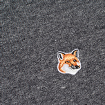 Мужская толстовка Maison Kitsune Fox Head Patch Black Melange фото- 2