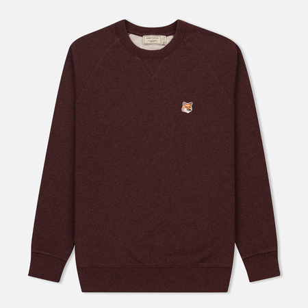 Мужская толстовка Maison Kitsune Fox Head Patch Burgundy Melange