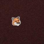 Мужская толстовка Maison Kitsune Fox Head Patch Burgundy Melange фото- 2