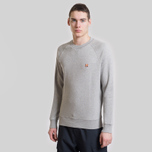 Мужская толстовка Maison Kitsune Fox Head Patch Grey Melange фото- 4