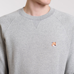 Мужская толстовка Maison Kitsune Fox Head Patch Grey Melange фото- 5