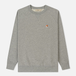 Мужская толстовка Maison Kitsune Fox Head Patch Grey Melange фото- 0
