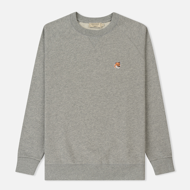 Мужская толстовка Maison Kitsune Fox Head Patch Grey Melange