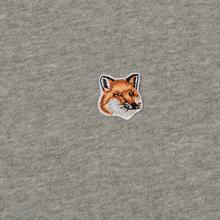Мужская толстовка Maison Kitsune Fox Head Patch Grey Melange фото- 2