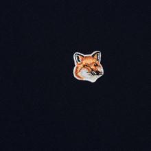 Мужская толстовка Maison Kitsune Fox Head Patch Navy фото- 2