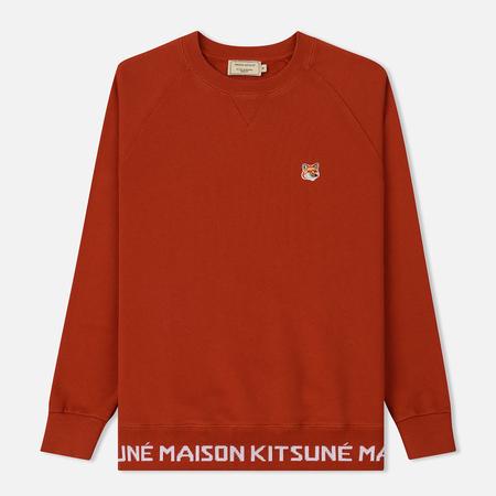 Мужская толстовка Maison Kitsune Fox Head Patch Round Neck Rust