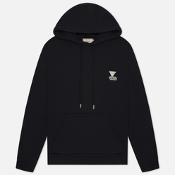 Мужская толстовка Maison Kitsune Hoodie Rainbow Triangle Fox Patch Black