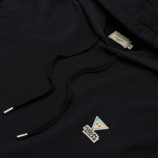 Мужская толстовка Maison Kitsune Hoodie Rainbow Triangle Fox Patch Black
