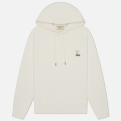 Мужская толстовка Maison Kitsune Hoodie Rainbow Triangle Fox Patch White
