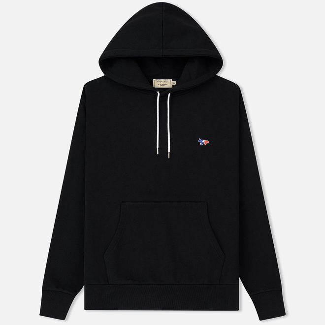 Мужская толстовка Maison Kitsune Hoodie Tricolor Fox Patch Black