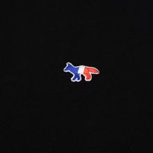 Мужская толстовка Maison Kitsune Hoodie Tricolor Fox Patch Black фото- 2