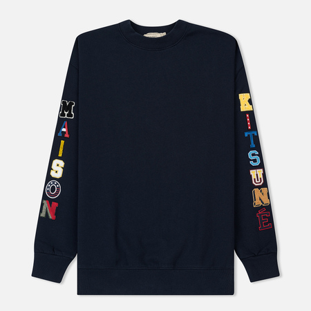 Мужская толстовка Maison Kitsune Maison Multi Patch Navy