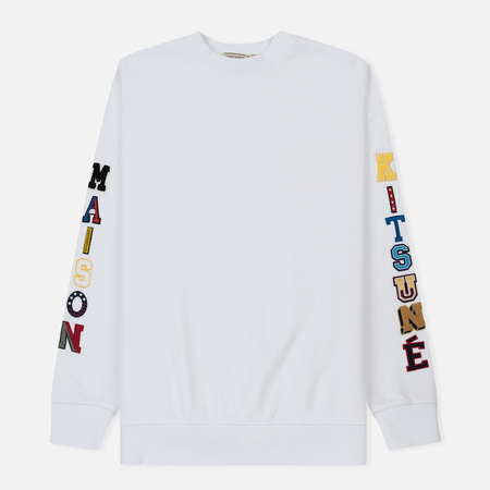 Мужская толстовка Maison Kitsune Maison Multi Patch White