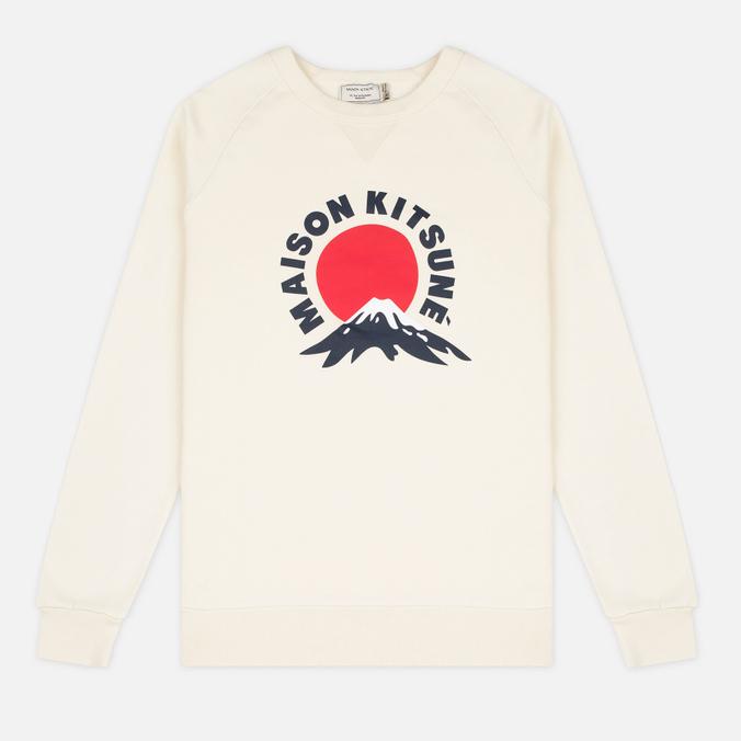 Мужская толстовка Maison Kitsune Mont Fuji Ecru