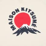 Мужская толстовка Maison Kitsune Mont Fuji Ecru фото- 2