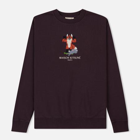 Мужская толстовка Maison Kitsune Pixel Fox Burgundy