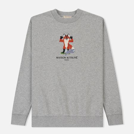 Мужская толстовка Maison Kitsune Pixel Fox Grey Melange