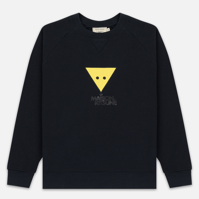 Мужская толстовка Maison Kitsune Triangle Fox Anthracite