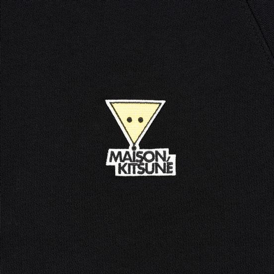 Мужская толстовка Maison Kitsune Triangle Fox Patch Black