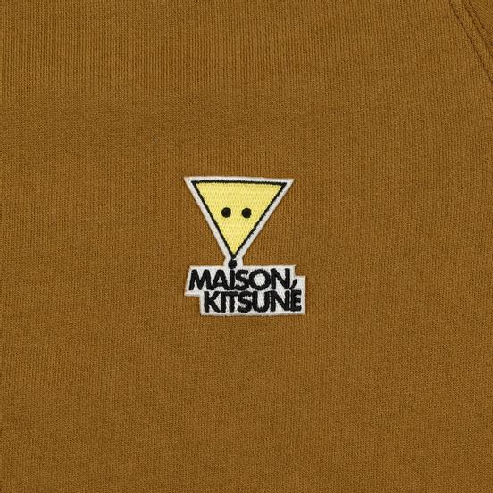 Мужская толстовка Maison Kitsune Triangle Fox Patch Camel