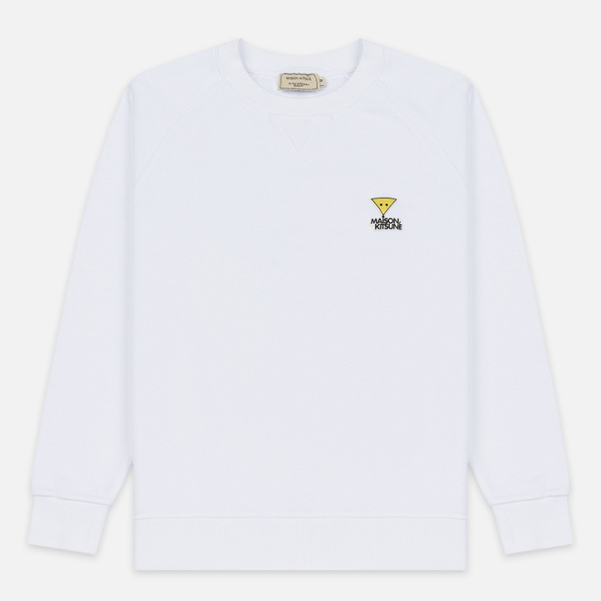 Мужская толстовка Maison Kitsune Triangle Fox Patch White