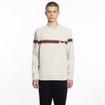 Мужская толстовка Maison Kitsune Striped Fox Ecru Melange фото- 4