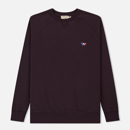 Мужская толстовка Maison Kitsune Tricolor Fox Patch Burgundy