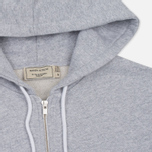Мужская толстовка Maison Kitsune Tricolor Fox Patch Full Zip Light Grey Melange фото- 1