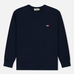Мужская толстовка Maison Kitsune Tricolor Fox Patch Navy фото- 0