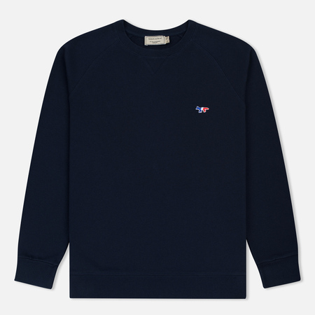 Мужская толстовка Maison Kitsune Tricolor Fox Patch Navy