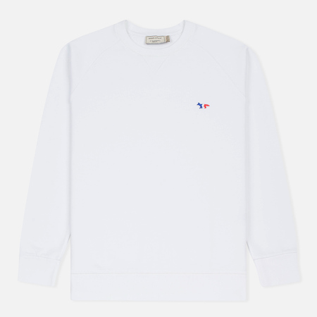Мужская толстовка Maison Kitsune Tricolor Fox Patch White