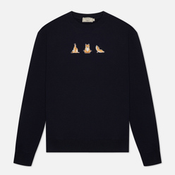 Мужская толстовка Maison Kitsune Yoga Fox Patches Navy