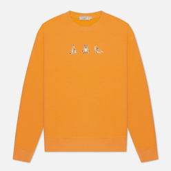 Мужская толстовка Maison Kitsune Yoga Fox Patches Orange