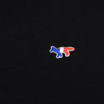 Мужская толстовка Maison Kitsune Zip Hoodie Tricolor Fox Patch Black фото- 2