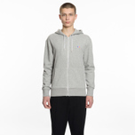 Мужская толстовка Maison Kitsune Zip Hoodie Tricolor Fox Patch Grey Melange фото- 5