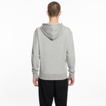 Мужская толстовка Maison Kitsune Zip Hoodie Tricolor Fox Patch Grey Melange фото- 6