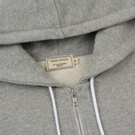 Мужская толстовка Maison Kitsune Zip Hoodie Tricolor Fox Patch Grey Melange фото- 1