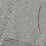 Мужская толстовка Maison Kitsune Zip Hoodie Tricolor Fox Patch Grey Melange фото- 3
