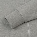 Мужская толстовка Maison Kitsune Zip Hoodie Tricolor Fox Patch Grey Melange фото- 4