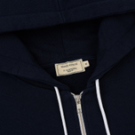 Мужская толстовка Maison Kitsune Zip Hoodie Tricolor Fox Patch Navy фото- 1